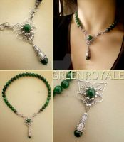 Green Royale Necklace by popnicute