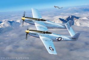 XP-82 Twin Mustang Long Range Fighter, by R. Cole by ColesAircraft