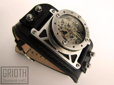 Industrial steampunk watch by Grioth by GRIOTH