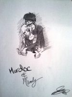 REQUEST Murdoc and Mandy by DemonsRuleThisWorld