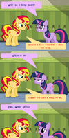 COMIC: Sunset comes before Twilight (Part 1) by IRL-SnowQueenRarity