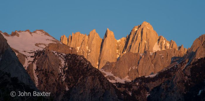 Early Morning Light on Mount Whitney by JBaxterPhotography