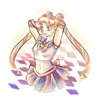 Sketchy thing: Sailor Moon by liferaven
