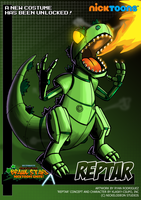 Nicktoons - Reptar (Alternate Costume) by NewEraOutlaw