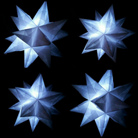 Origami Bascetta Star lamps by OrigamiPanama