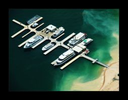 Yacht Harbor, Lake Powell by sn4rk