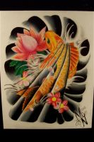 koi half sleeve design by MANNY-NEGRON