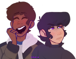 the closest to klance i'll get by chip-0