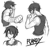 Brawler!Randy Sketches by Mgx0