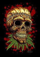 skull and weed II FA by gorillarium
