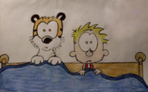 Calvin and Hobbes-fan art- by ShiningLight72