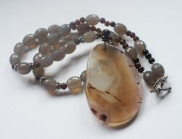 Sands of Time Agate Necklace by CrysallisCreations