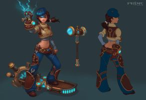 Thunder God. Female skin. by Tindomielle