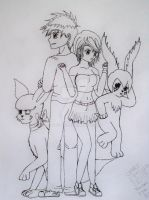 Digimon Poster Line Art by Toddiie