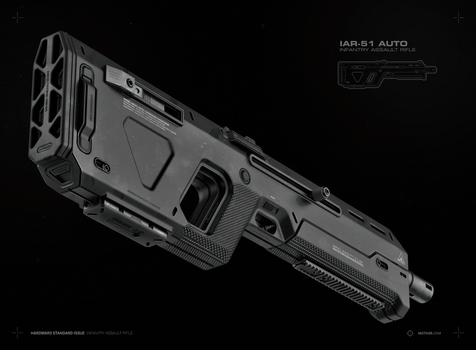 IAR-51 AUTO / Infantry Assault Rifle by moth3R