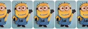 Minion au fondant by cake4thought