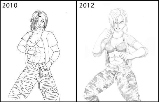 Then and Now: Vanessa Lewis by Tedbob