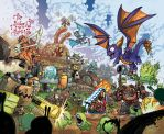 Skylanders 12 Wrap Cover by Fico-Ossio