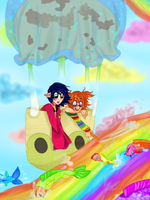 Friendship is like a rainbow lake by Daisu-Natori