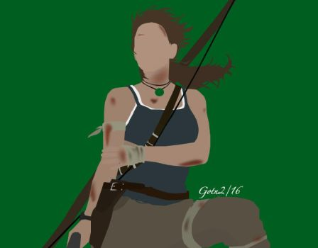 Lara Croft Minimalist by GuardianOfTheNight2