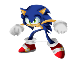 Sonic The Hedgehog by AnaMariaTheHedgehog