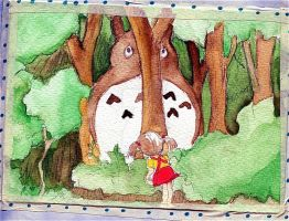 My Neighbour Totoro by HarlequinChild