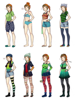 Losa's outfits by MeoAgcat