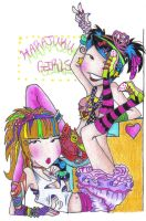 Harajuku Girls by Xubbles