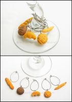 Bread Wine Charms by Bon-AppetEats