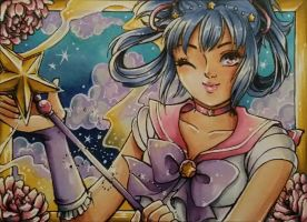 C: ACEO #58: Sailor Omega by Toto-the-cat