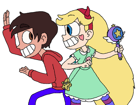 Star and Marco getting ready for a fight by SierratheLurker