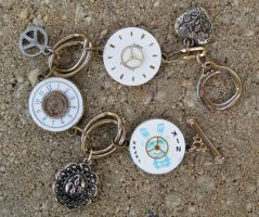 Steampunk Watch Charm Bracelet by Lucky978
