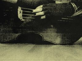 cello in sepia by Sylville