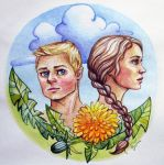 Katniss and Peeta by Feyjane