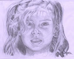 Drawing of a young girl by taro-twist