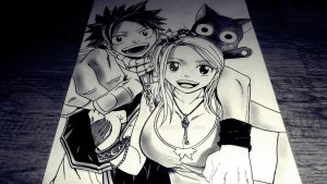 Natsu, Lucy and Happy by SaraDraw