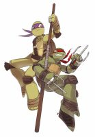 TMNT: Donnie and Raf by Epaqj