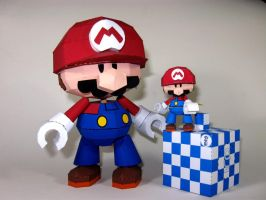 Mini Mario Toy Papercraft by airasumi