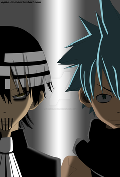 Madness Kid and Bushin Black Star by nausicaaedu1