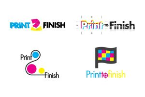 Print 2 finish logo samples by KlyrREIN