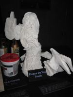 2D-3D Angel Sculpture V1 (front w/wing) by liquidinsect