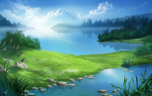 Valley of lakes by Aomori