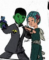 Enzo and AndrAIa coloured by PMiow