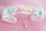 Kawaii Fairy kei Lace Choker by popglitz