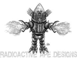 Grayscale: Robby the Robot Sinister version by johnbecaro
