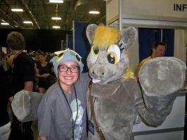 Me and Derpy Hooves at BronyCon by Linny235