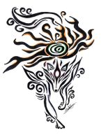 Okami tribal tattoo by Northwolf89