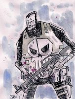 Punisher Sketch by SpencerPlatt