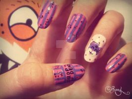 drop dead - nail art by RooRhapsody
