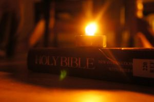 Candle and Bible by Soph-LW